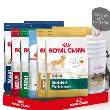 Un conteneur Royal Canin offert