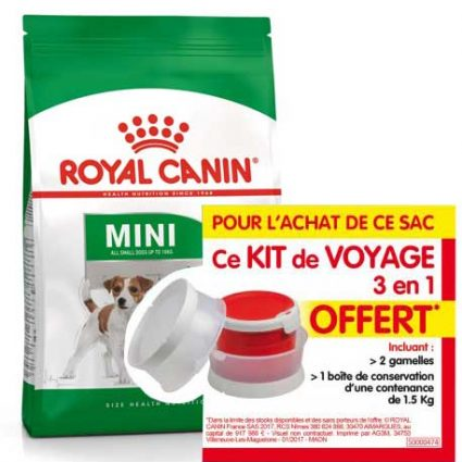 Royal Canin, 1 kit de voyage offert