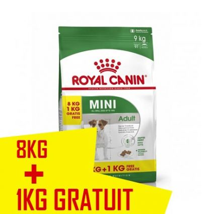 Royal canin chien MINI 8 kg + 1 offerts