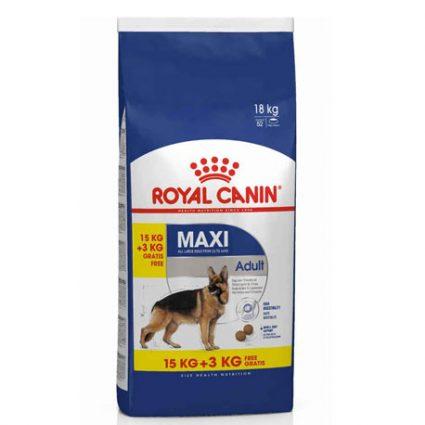 Royal canin Maxi Adult 15 kg + 3 kg gratuits