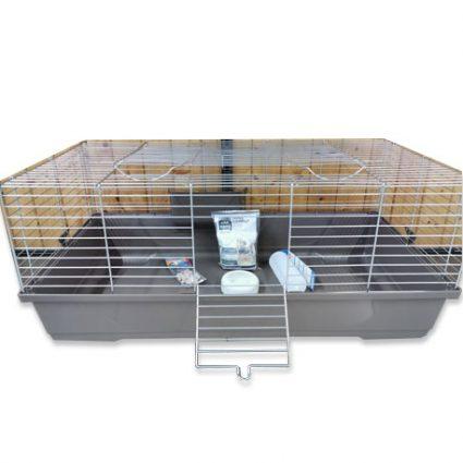 Cage équipée pour lapin ou cobaye